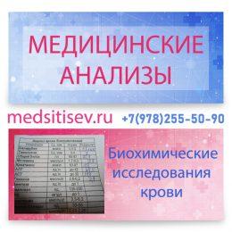 Биохимические исследования крови медцентр МЕДСИТИ Севастополь
